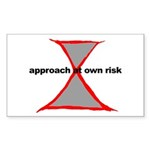 Approach At Own Risk Rectangle Sticker 10 pk)