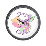 Daye China Map Wall Clock