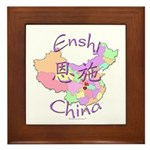 Enshi China Map Framed Tile