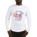 Enshi China Map Long Sleeve T-Shirt