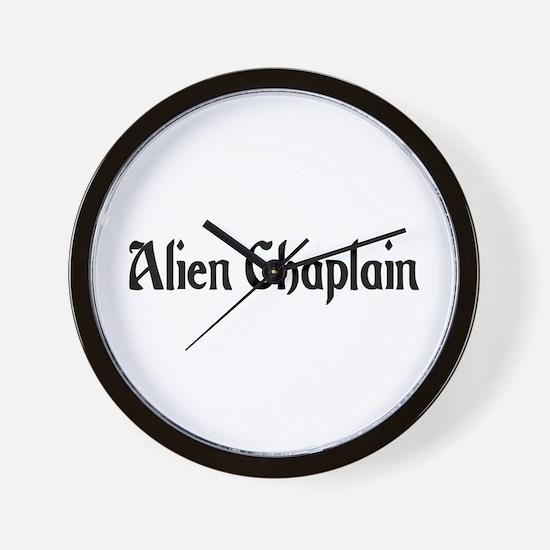 Alien Chaplain Wall Clock