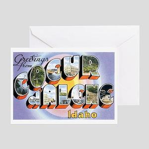 Coeur d'Alene Idaho ID Greeting Card
