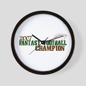 2007 Fantasy Footbal Champion Wall Clock