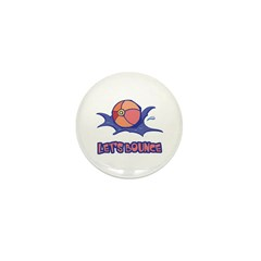 Let's Bounce Beach Ball Mini Button (100 pack)