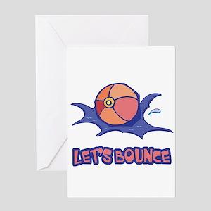 Let's Bounce Beach Ball Greeting Card