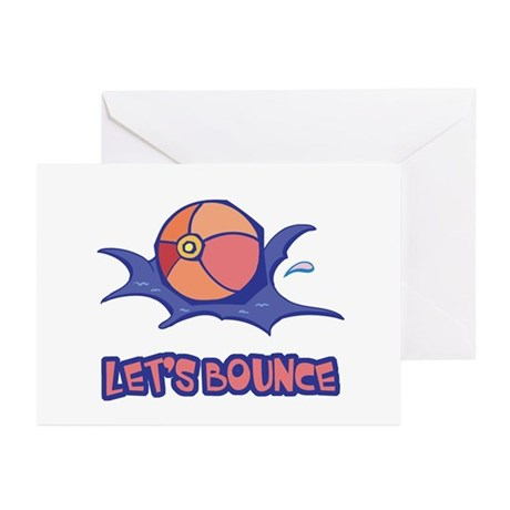 Let's Bounce Beach Ball Greeting Cards (Pk of 10)