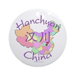 Hanchuan China Map Ornament (Round)