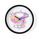 Hanchuan China Map Wall Clock