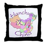 Hanchuan China Map Throw Pillow
