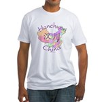 Hanchuan China Map Fitted T-Shirt