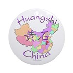 Huangshi China Map Ornament (Round)