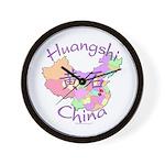Huangshi China Map Wall Clock