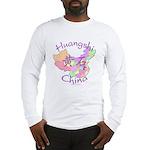 Huangshi China Map Long Sleeve T-Shirt