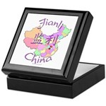 Jianli China Map Keepsake Box