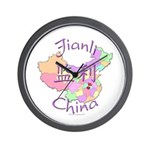 Jianli China Map Wall Clock