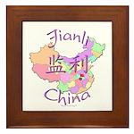Jianli China Map Framed Tile