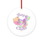 Jiayu China Map Ornament (Round)
