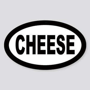 Cheese Oval Sticker