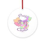 Puqi China Map Ornament (Round)