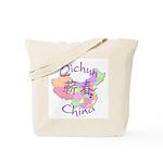 Qichun China Map Tote Bag