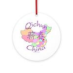 Qichun China Map Ornament (Round)