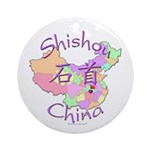 Shishou China Map Ornament (Round)