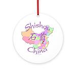 Shishou China Map Ornament (Round)