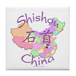 Shishou China Map Tile Coaster