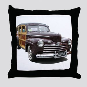 Helaine's Ford Woody Throw Pillow