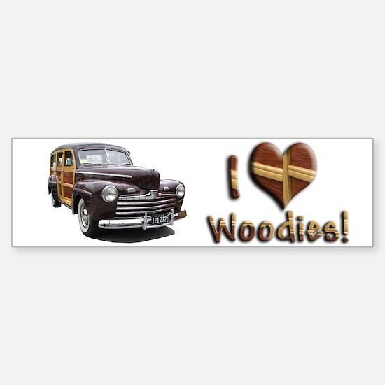 Helaine's Ford Woody Bumper Bumper Bumper Sticker