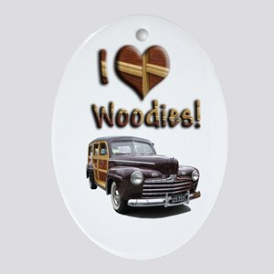 Helaine's Ford Woody Oval Ornament