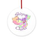 Shiyan China Map Ornament (Round)
