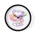 Shiyan China Map Wall Clock