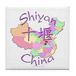 Shiyan China Map Tile Coaster