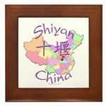 Shiyan China Map Framed Tile