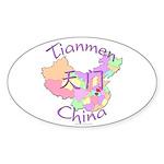 Tianmen China Oval Sticker (10 pk)