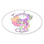 Tuanfeng China Oval Sticker (10 pk)