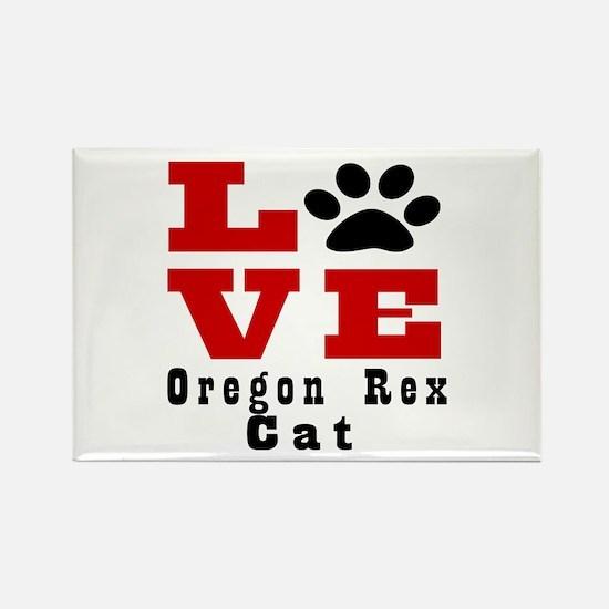 Love Oregon rex Cat Rectangle Magnet