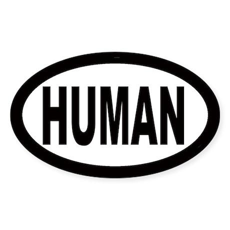 Human Oval Sticker