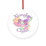 Xiangfan China Map Ornament (Round)