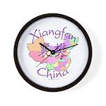 Xiangfan China Map Wall Clock