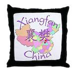 Xiangfan China Map Throw Pillow