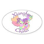 Xiangfan China Map Oval Sticker (10 pk)