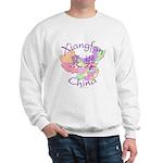Xiangfan China Map Sweatshirt