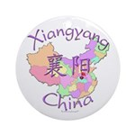 Xiangyang China Map Ornament (Round)