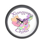 Xiangyang China Map Wall Clock
