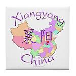 Xiangyang China Map Tile Coaster