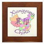 Xiangyang China Map Framed Tile