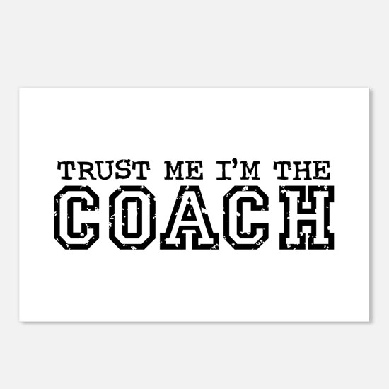 Trust Me I'm the Coach Postcards (Package of 8)