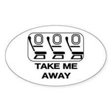 *NEW DESIGN* Take Me Away Oval Sticker